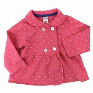 Carter's pink polka-dot ruffle jacket girl 18m